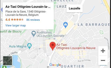 Localisation de aztaxi.be sur la map